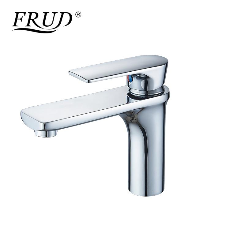 FRUD salle de bains robinet pont monté bassin robinet Chrome mitigeur cuisine robinet eau chaude et froide mitigeur salle de bain Y10112