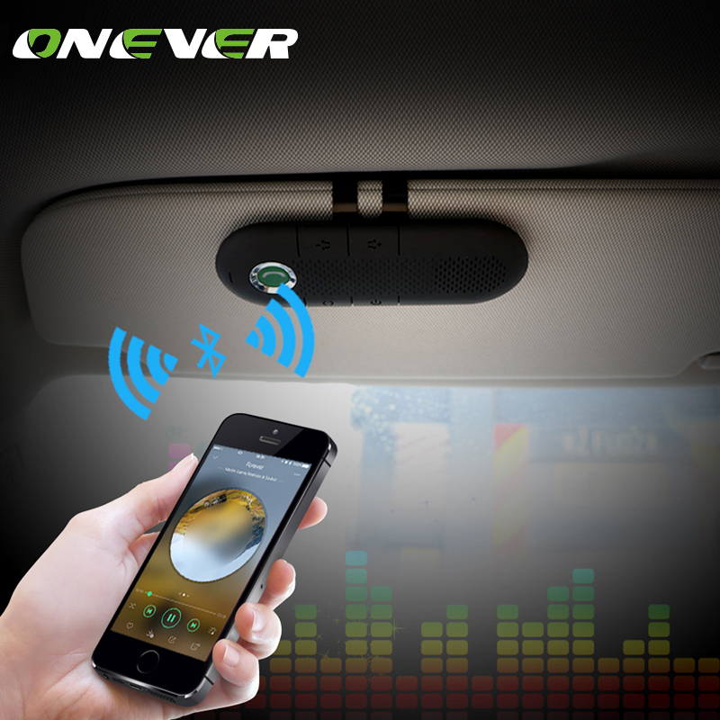 Onever Wireless Speakerphone Bluetooth Handsfree Car Kit MP3 music Player For SmartPhone Support Dual Phones Connection smartphone