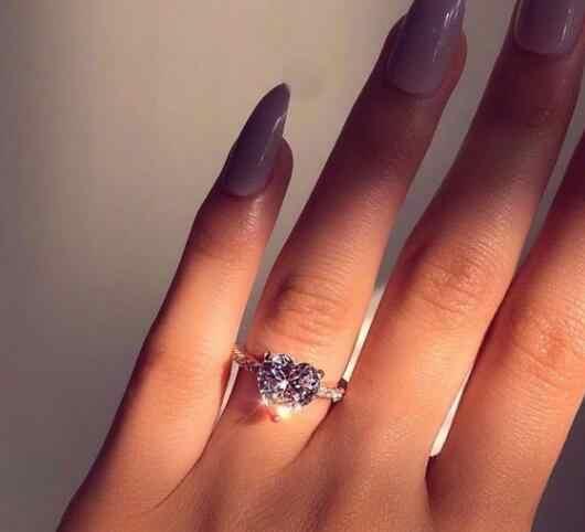 Hãng sản xuất bán buôn 6 móng vuốt Nhẫn vàng đính pha lê Áo Nhẫn đính đá Zircon quà tặng Giáng Sinh cho nữ cưới nhẫn trang sức