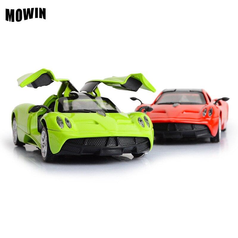 1:36 moedel de colección de metal racing car toys música ligera aleación de vehí