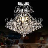 Chrome Finish Novelty Crystal Chandelier Ceiling Lustres De Cristal Lamparas De Techo Home Deco Lighting Fixture