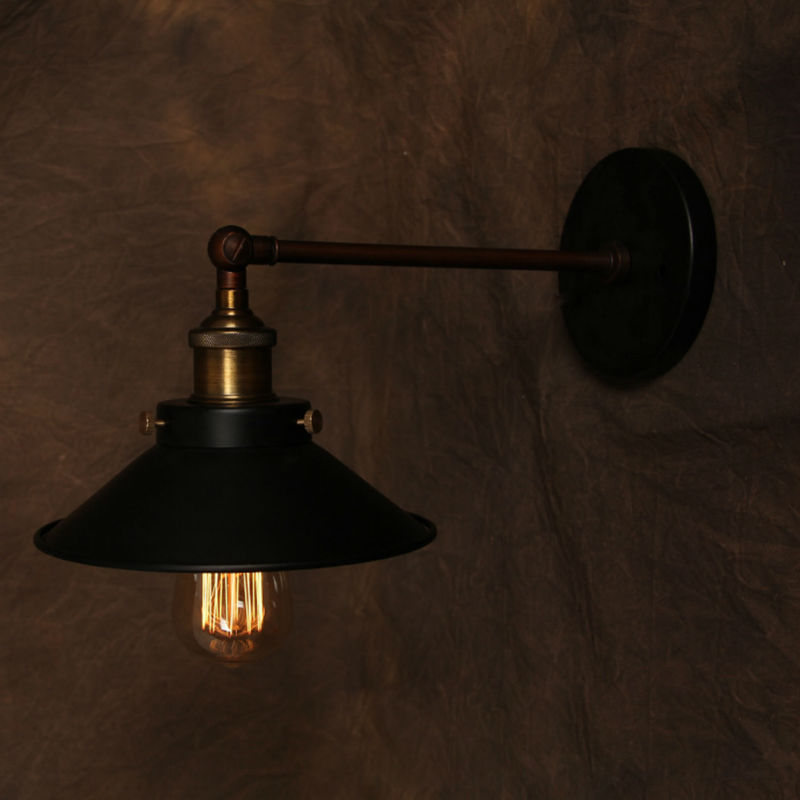 Vintage Wall Lamp American Style Industrial Edison Lamps Plated Iron Lampshade Art Deco Loft Lighting For Home