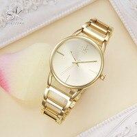 Shengke Bracelet Women Watch Luxury Gold Watch Top Brand Wrist Watch Girl Dress Elengant Party Top