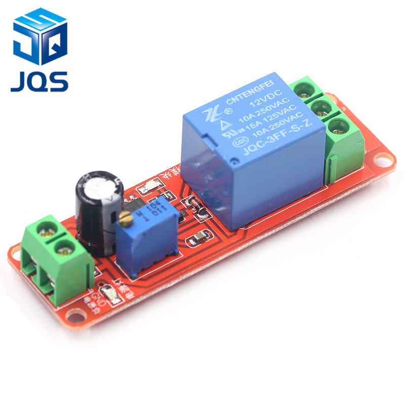 NE555 Timer Switch Adjustable Module Time Delay Relay Module DC 12V Delay Relay Shield 0~10S