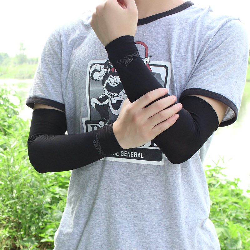 Ice Silk Anti UV Sunscreen Outdoor Fishing Sport Bike Riding Sleeve Protection Arm Gloves Stretch Fabric 39cm*11cm