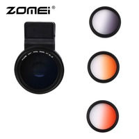 4 In 1 Universal ZOMEI M4 37MM Mobile Phone Camera Filters Lens Gray/Blue/Orange/Red Filters For Most Smartphones