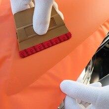 EHDIS Magnet Scraper with Slim Microfiber Felt Window Tint Magnetic Squeegee Carbon Fiber Vinyl Film Wrap Car Sticker Styling