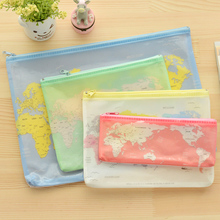 Creative world Map Pattern A4 A5 B6 Mini File Bag Document Bag A4 File Folder Stationery Filing Production