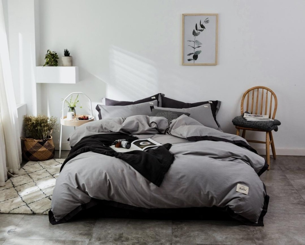 Bedding Set Nordic Style Bed Set Luxury Cotton Twin Queen King Size Warm Colour Duvet Cover Set Bed Sheet 3 stylesBedding Set Nordic Style Bed Set Luxury Cotton Twin Queen King Size Warm Colour Duvet Cover Set Bed Sheet 3 styles