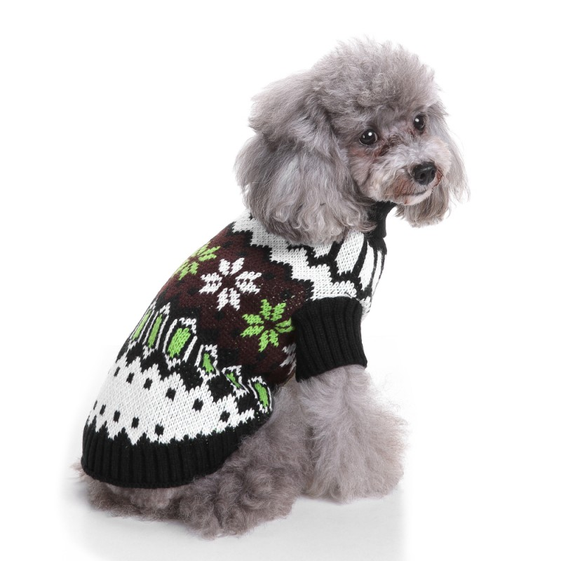 Pet Snowflake Dog Sweater Famous Chinese Dog Lover Design Snowy Day Comfortable Clothes For Puppy Pet Dogs New