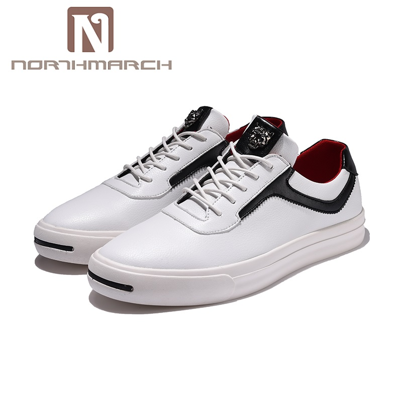 NORTHMARCH Men's Shoes Casual Moccasins Men Loafers Shoes Luxury Brand Breathable PU Leather Lace-Up Shoes Male Chaussure Homme недорго, оригинальная цена