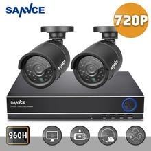 SANNCE Новый HD 4CH CCTV Система 1080 P DVR 2 ШТ. 720 P 1200TVL ИК Открытый Видеонаблюдения Камеры Системы Безопасности 4ch DVR комплекты