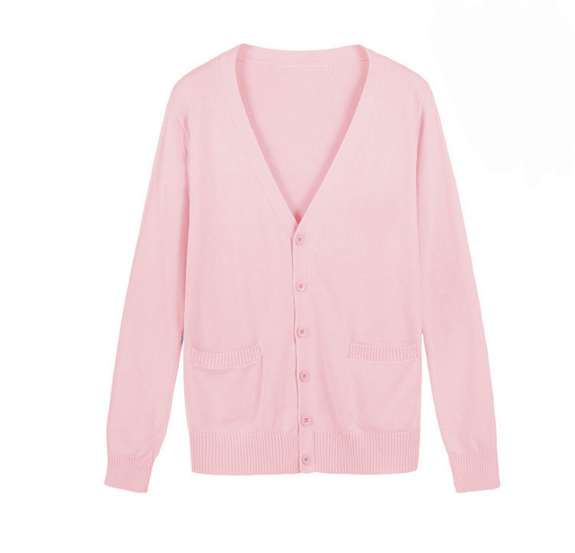 144c677685d Japanese Girls Cardigan Sweater Love Live Cosplay Costume Love live Nico  Yazawa Sweater School Uniform Pink