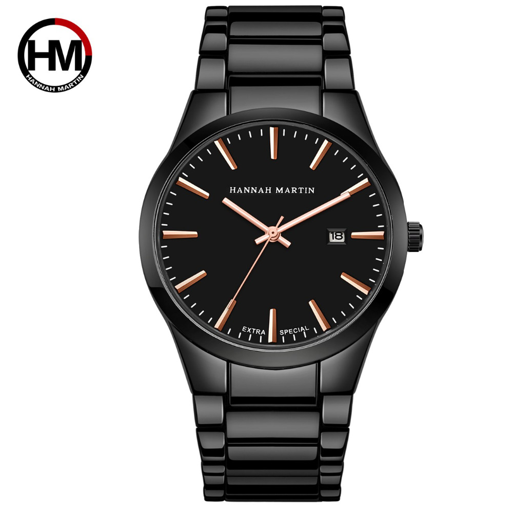 Men Watch Top Brand Luxury Calendar Stainless Steel Quartz Fashion Business Boutique Black Waterproof Watches Relogio Masculino