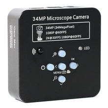 2019 Full HD 34MP 2K 1080P 3400W TF Video Recorder HDMI USB Industriale Elettronico Microscopio Video Digitale di Lavoro della macchina fotografica Per Il Laboratorio di CPU Del Telefono PCB di Riparazione di Saldatura