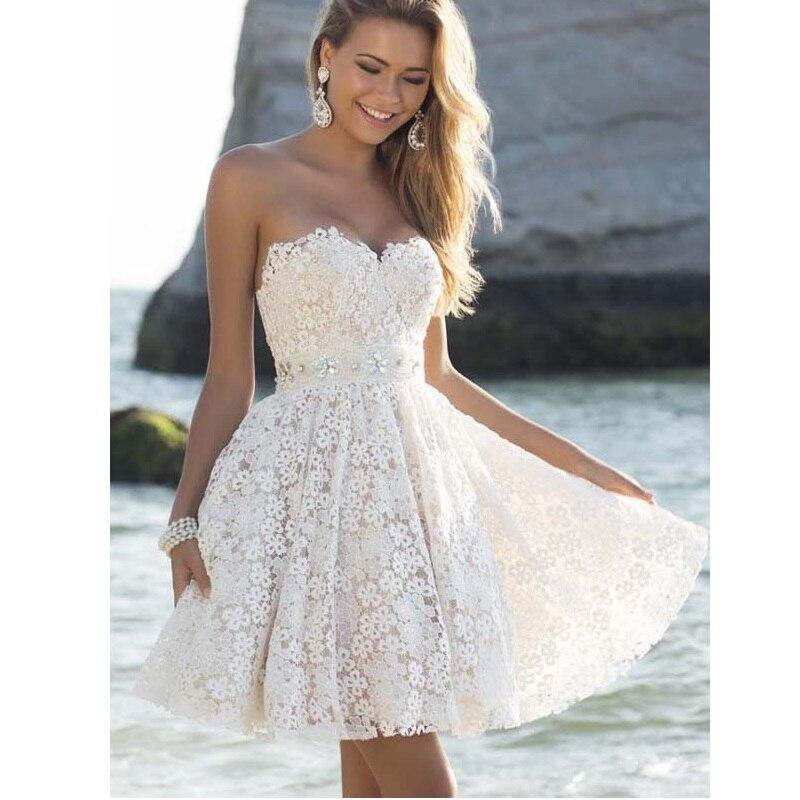 Платье принцессы с открытыми плечами без рукавов белое кружевное платье с открытой спиной летнее Плиссированное Платье сексуальное элеган...