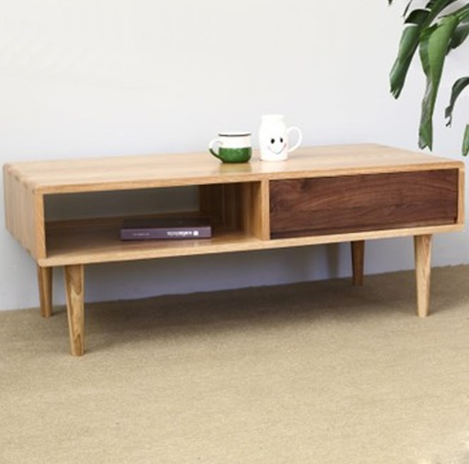Japanese style wood furniture living room coffee table ...