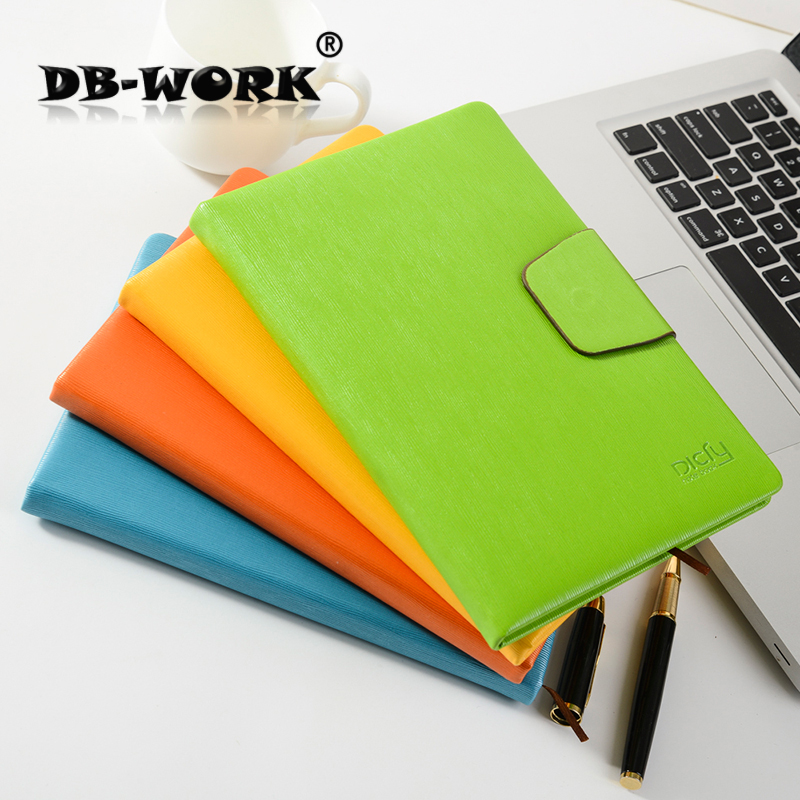 Fashin Leather notepad High-end Japanese and Korean A6 notebook business notebook  portable diary can be customized logo 2016 fashin reversible skullies