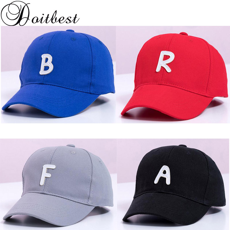 Doitbest 2 to 7 Years old Spring Children   Baseball     Cap   Boy Girls Embroidery letters Snapback adjustable Kid Hip Hop Hat Sun   cap
