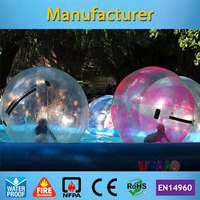 Free Shipping Colorful Inflatable Water Ball Water Walking Ball(TIZIP zipper+CE pump)