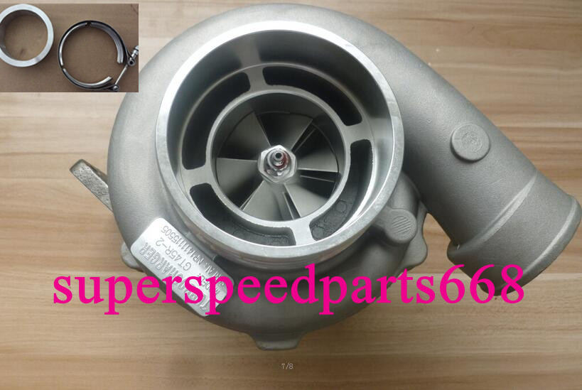 "GT45R GT45 4/"" Com A//R .70 turbine A//R .84 V-band T4 oil water cold Turbocharger"