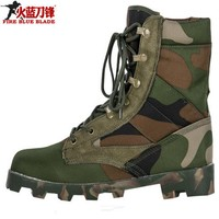 Men Tactical Combat Army Ankle Boots Breathable Hiking Shoes Camouflage Sport Hunting Mountain Climbing Shoes Desert Boots Men|Hiking Shoes| |  -