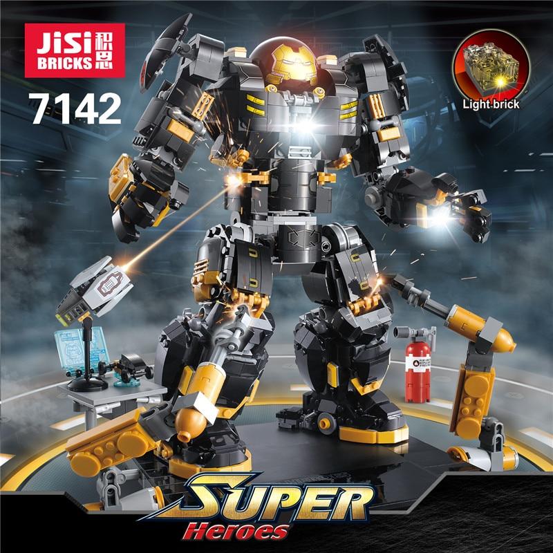 DHL Decool ใหม่ 7142 7134 07101 Super ของแท้ Hero Iron Man Anti Hulk Mech ของเล่น Building อิฐบล็อกชุด 76105 คริสต์มาสของขวัญ-ใน บล็อก จาก ของเล่นและงานอดิเรก บน   1