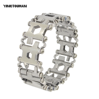 YT Stainless Steel Wearable With 29 Kinds Of Multi Function Bracelet Bracelet Multi Function Screwdriver Outdoor