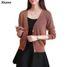 Xnxee Cardigan autumn jacket female 2018 new sweater Korean short paragraph long sleeve loose knitted cardigan