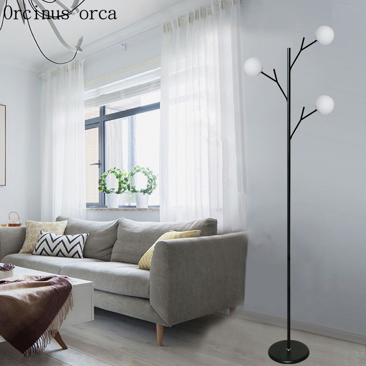 Modern simple tree floor lamp living room bedroom bedside lamp modern creative personality multi LED floor lamp free shipping french garden vertical floor lamp modern ceramic crystal lamp hotel room bedroom floor lamps dining lamp simple bedside lights