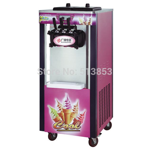 220v/50Hz  two and one twisted 20L floor standing ice cream machine ice cream making tool with moving wheels220v/50Hz  two and one twisted 20L floor standing ice cream machine ice cream making tool with moving wheels