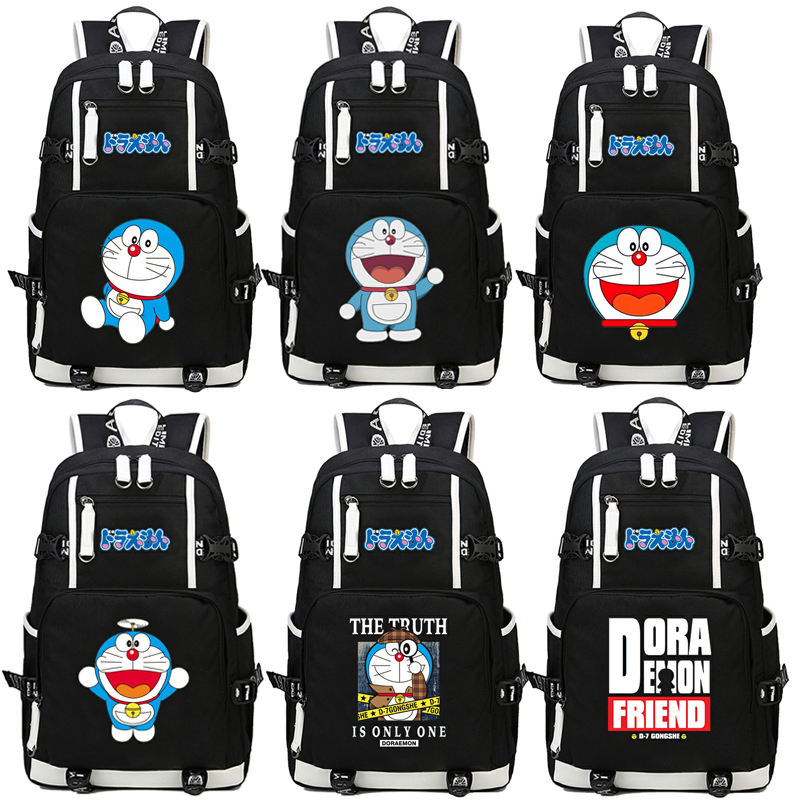Japan anime Doraemon Printing Backpack School Bags Laptop Backpack Shoulders bag Student book Bag Computer Bag package objective ielts advanced student s book with cd rom