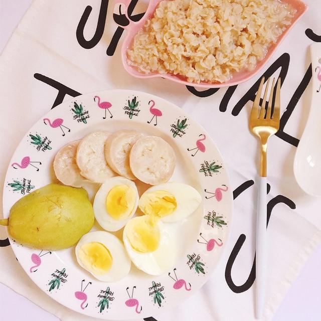 Instagram Style Flamingo Cactus Ceramic Tableware Steak Plate Dinner Food Deep Dish Coffee Mug Soup Bowl & Instagram Style Flamingo Cactus Ceramic Tableware Steak Plate ...