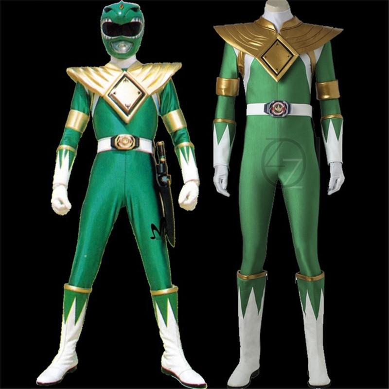 Dragon Ranger Burai cosplay Costume adult Halloween costumes Green Ranger Uniform Zyuranger cosplay Dragon Ranger Jumpsuit