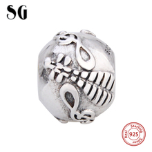 SG New Charms sterling Silver 925 Instrument lute beads Fit Authentic pandora charm bracelet diy fashion Jewelry Making Gifts