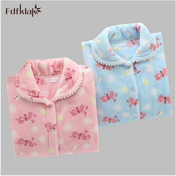 Pyjamas pour femmes flanelle Thich polaire pyjama ensemble automne hiver à manches longues Pyjamas Feminino Pijama pour femmes vêtements de nuit vêtements de maison