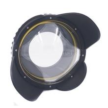 Meikon m67 67mm mergulho olho de peixe lente grande angular dome porta fotografia subaquática câmera lente grande angular porta cúpula