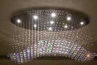 2013 The Newest Streamlined Oval LED Crystal Chandelier Aslo For Wholesale