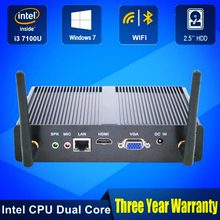 Cheapest Intel Core i3 7100U i3 6006U Mini PC Windows 10 Barebone Computer DDR3 2.4GHz 620/520 Graphics 4K HTPC minipc HDMI VGA(China)