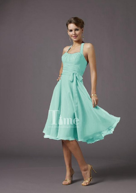 Short mint green bridesmaid dresses 2014 Black Navy blue red orange green  pink grey white purple free shipping BM000732 bb472f7b922b