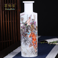 Changwuju in Jingdezhen the handmade porcelain vase painted by Chaozhiyou as home decoration and business gift