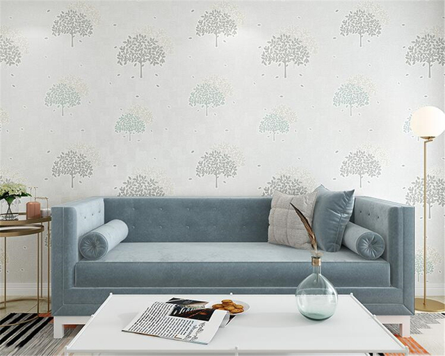 Modern Slaapkamer Behang : Beibehang papel tapiz bomen bladeren behang slaapkamer woonkamer