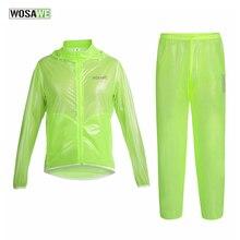 WOSAWE Bicycle Cycling Rain Jacket Pants Sets Waterproof Breathable Jacket Pants Suit Raincoat MTB Mountain Road Bike Clothing цена