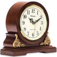 Hourly chime, Westminster Sound Matel Clock, wooden case, battery powered, classy home decor, office decorative clock