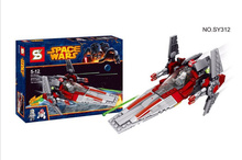 HQ hot sale STAR WARS SY312 3D V-Wing Warship DIY Building Block model Minifigures Toys Compatible With Legoe for boys gift