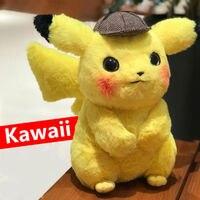 28 см плюшевый Пикачу игрушка мягкая игрушка детектив Пикачу Япония Плюшевые игрушки Аниме для детей