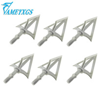 12pcs Archery Blade Arrowheads Stainless Steel 3 Broadheads Fit For Outdoor Camping Shooting Hunting Bow Arrow Accessories