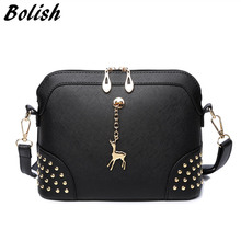 Bolish New Arrived European and American Style Rivet Women Bag Small Vintage Women Shoulder Bag Fashion Metal Bag