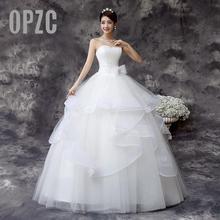 Özelleştirilmiş düğün elbisesi 2020 yeni kore tarzı el yapımı gelinlik gelin düğün elbisesi beyaz prenses gelin düğün Frocks 64
