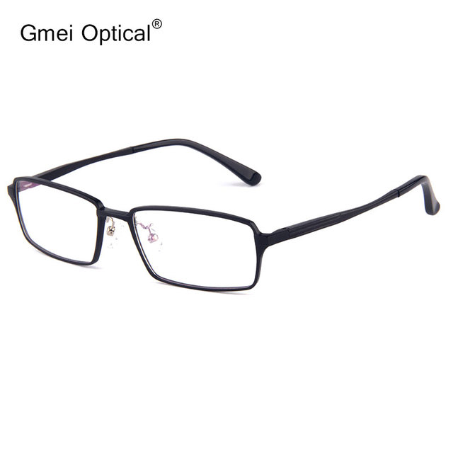 d3ff06bb532 Aircraft Material Rectangle Full-Rim Optical Frames Men Glasses Frame Women  Hydronalium Eyeglass Frame With Spring Hinge On Legs